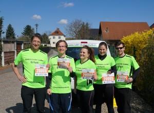 Unser Läuferteam beim 39. Stadtwerke Leipzig Marathon