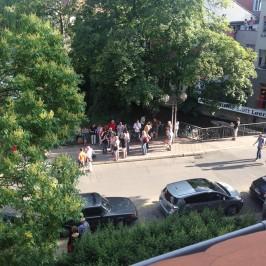 Flashmob gegen Baumfällung