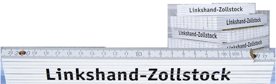 Linkshänder-Zollstock