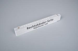 Zollstock für Links- und Rechtshänder - Rechtshänderseite