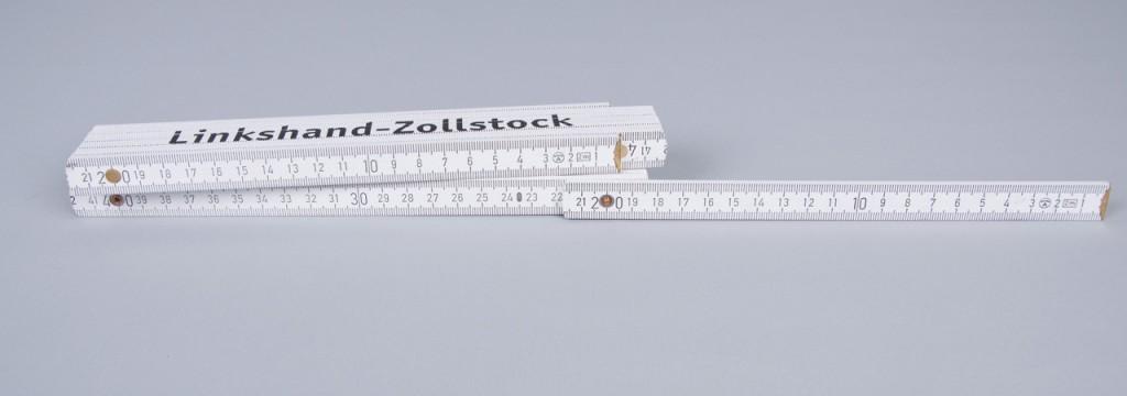 Linkshänder-Zollstock - Skalierung läuft von Rechts nach Links