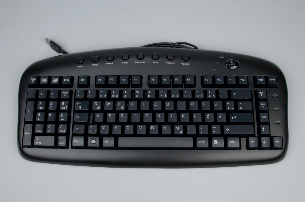 Linkshändertastatur KB-29 (schwarz)