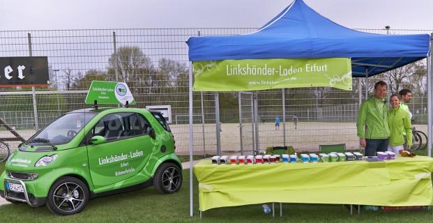 Das Linkshänder-Laden-Team beim Teamlauf 2013 in Jena