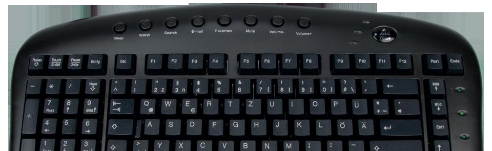 Linkshänder-Tastatur