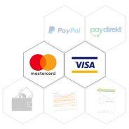 Kredikarten akzeptiert – Neue Zahlungsart eingeführt!